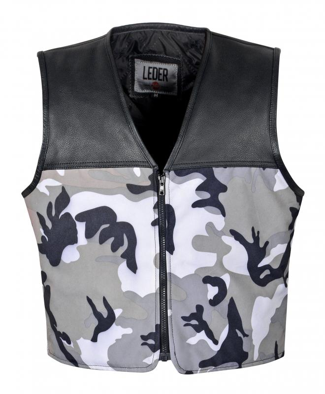 Leder24h Leather vest 1096