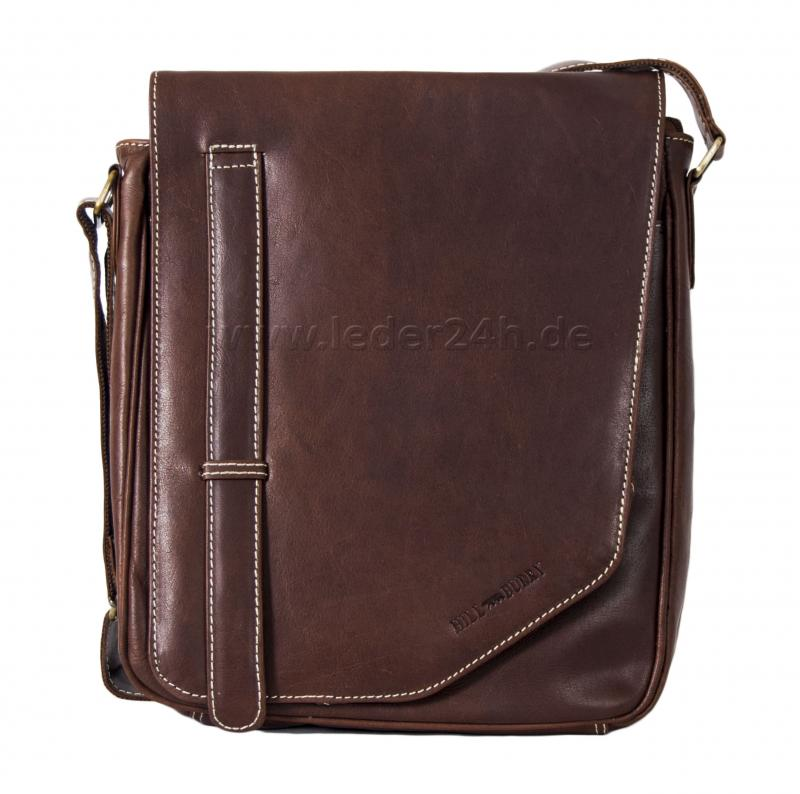 HILL BURRY Ledertasche Messenger Bag - 4017