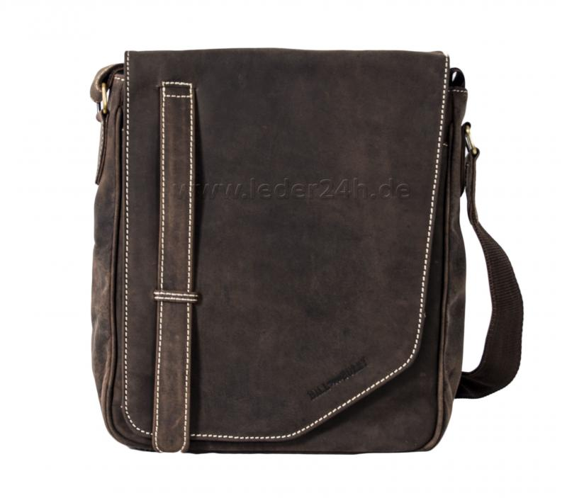 HILL BURRY Ledertasche Messenger Bag - 4016